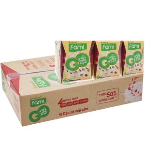 Thùng 36 hộp Sữa đậu nành Fami Go đậu đỏ nếp cẩm 200ml