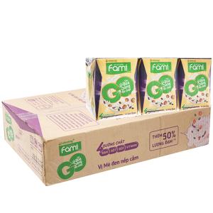 Thùng 36 hộp Sữa đậu nành Fami Go mè đen nếp cẩm 200ml
