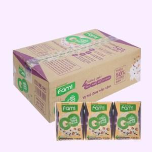 Thùng 36 hộp sữa đậu nành mè đen nếp cẩm Fami Go 200ml