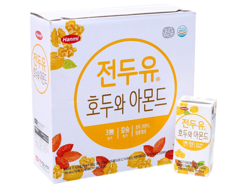 Thùng 16 hộp Sữa đậu nành Hanmi 190ml 2