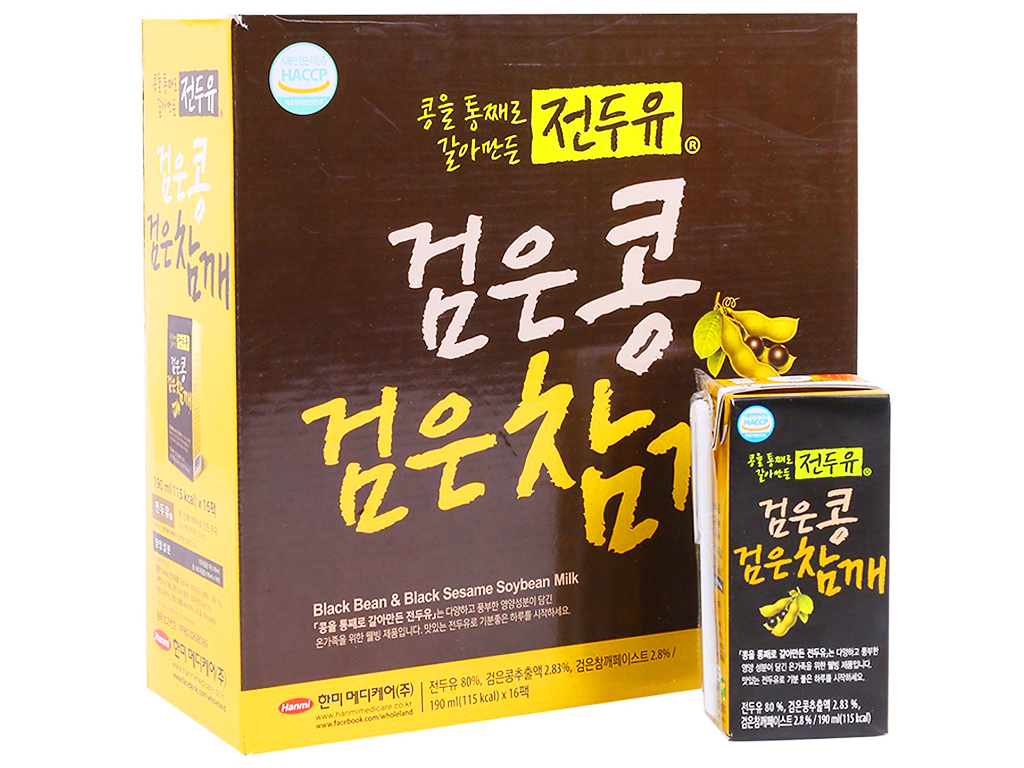 Thùng 16 hộp sữa đậu đen Hanmi 190ml 1