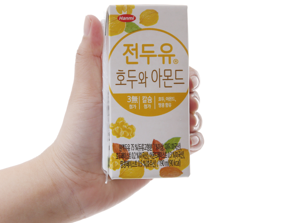 Thùng 16 hộp Sữa đậu nành Hanmi óc chó hạnh nhân 190ml 3