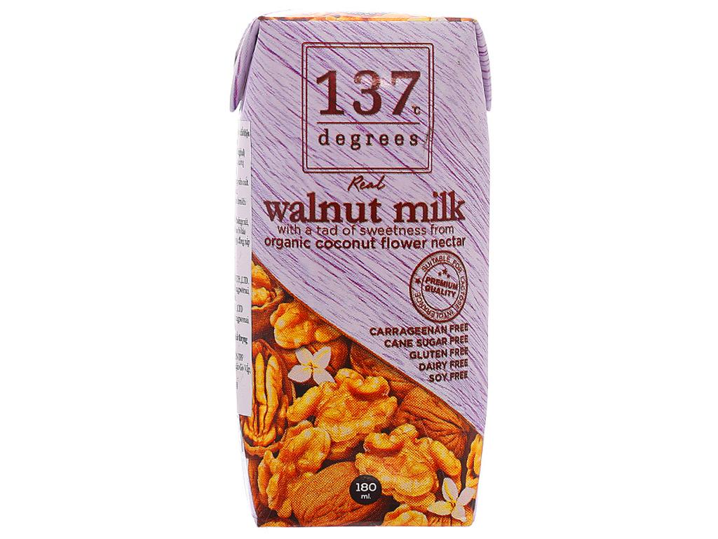 Sữa hạt óc chó 137 DEGREES mật hoa dừa 180ml 1