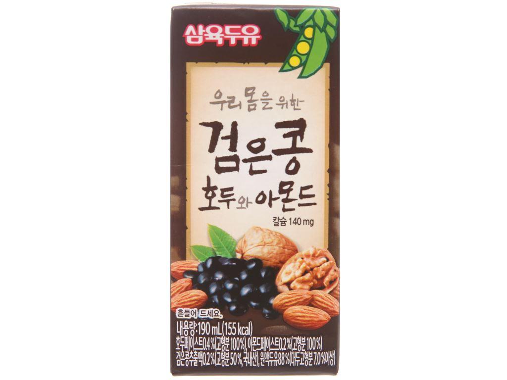 Sữa đậu đen Sahmyook óc chó hạnh nhân 190ml 1