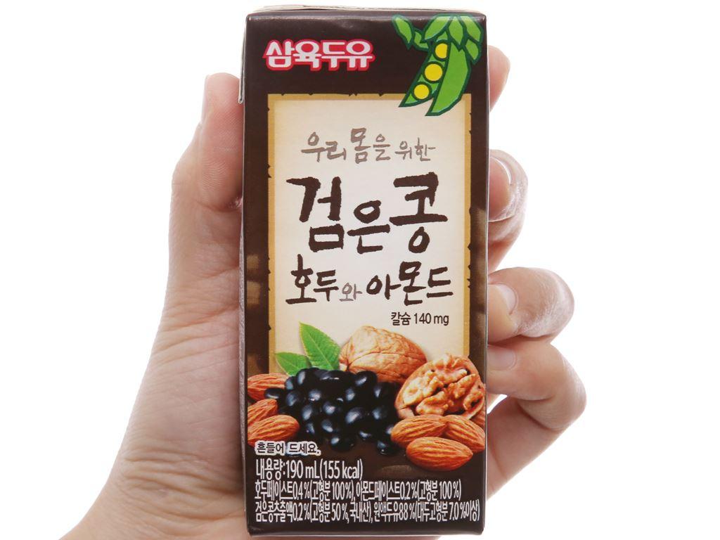 Sữa đậu đen Sahmyook óc chó hạnh nhân 190ml 2
