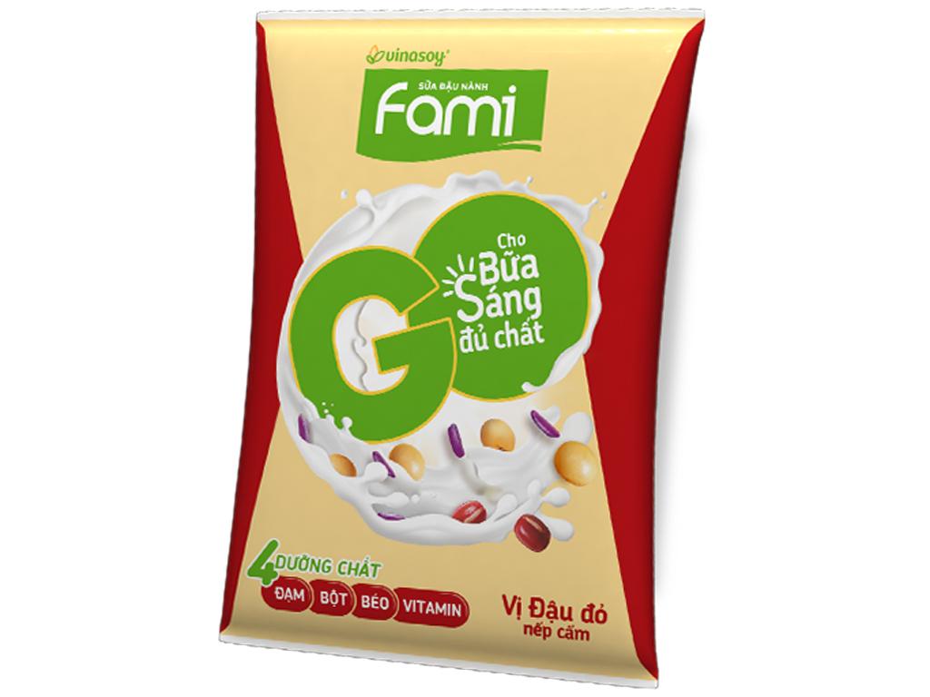 Sữa đậu nành Fami Go đậu đỏ nếp cẩm 180ml 1