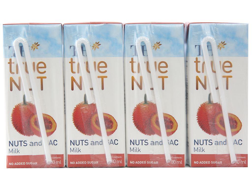 Lốc 4 hộp Sữa hạt và gấc TH True Nut 180ml 2