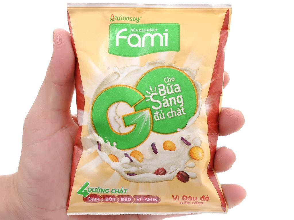 Sữa đậu nành Fami Go đậu đỏ nếp cẩm bịch 200ml 7