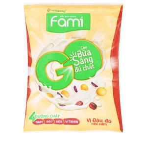 Sữa đậu nành Fami Go đậu đỏ nếp cẩm bịch 200ml