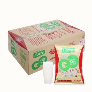 Thùng 40 bịch sữa đậu nành đậu đỏ nếp cẩm Fami Go 200ml