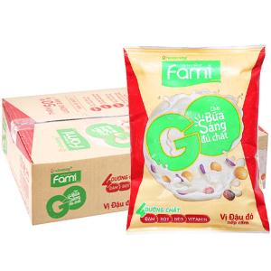 Thùng 40 bịch Sữa đậu nành Fami Go đậu đỏ nếp cẩm 200ml