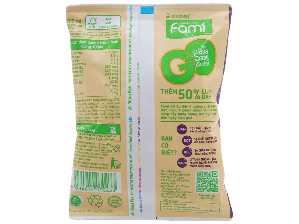 Sữa đậu nành Fami Go mè đen nếp cẩm bịch 200ml 2