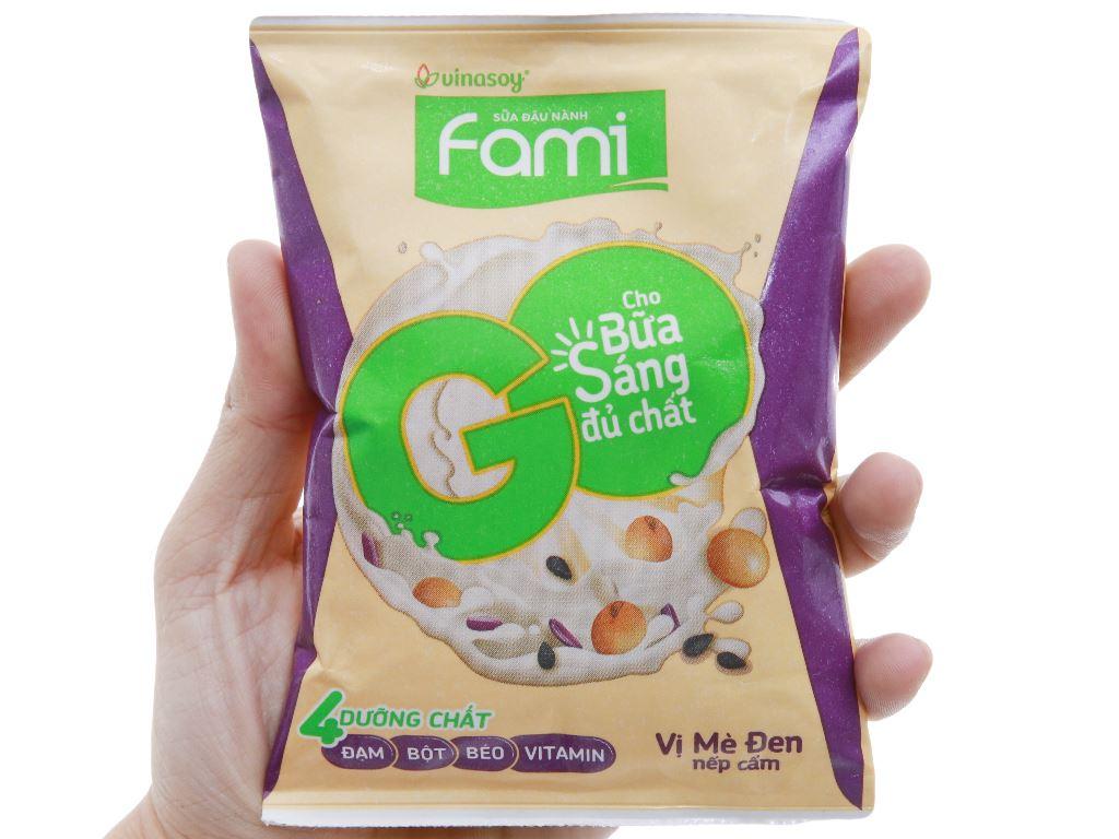 Sữa đậu nành Fami Go mè đen nếp cẩm bịch 200ml 3