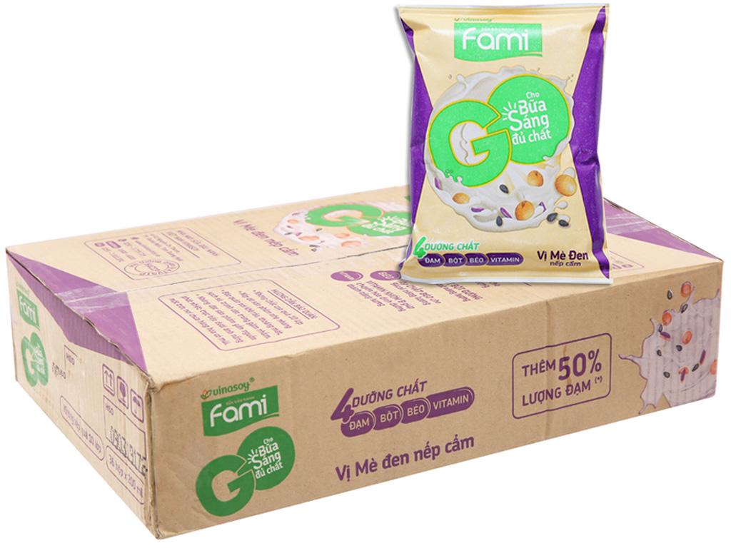 Thùng 40 bịch Sữa đậu nành Fami Go mè đen nếp cẩm 200ml 1