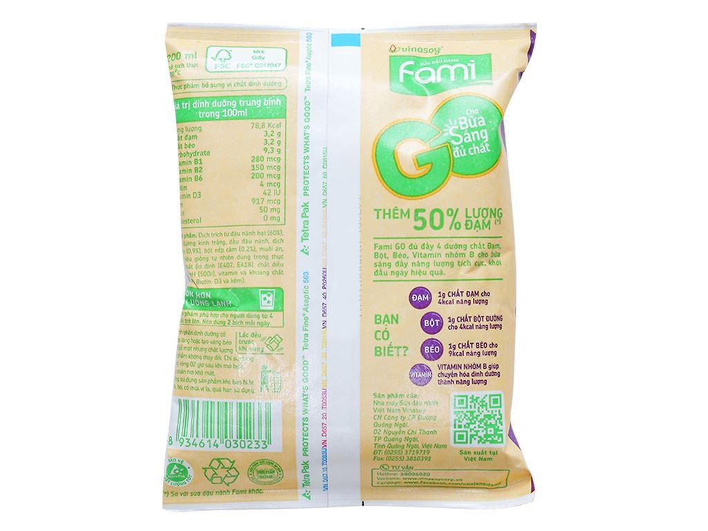 Thùng 40 bịch Sữa đậu nành Fami Go mè đen nếp cẩm 200ml 3