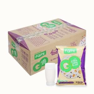 Thùng 40 bịch sữa đậu nành mè đen nếp cẩm Fami Go 200ml