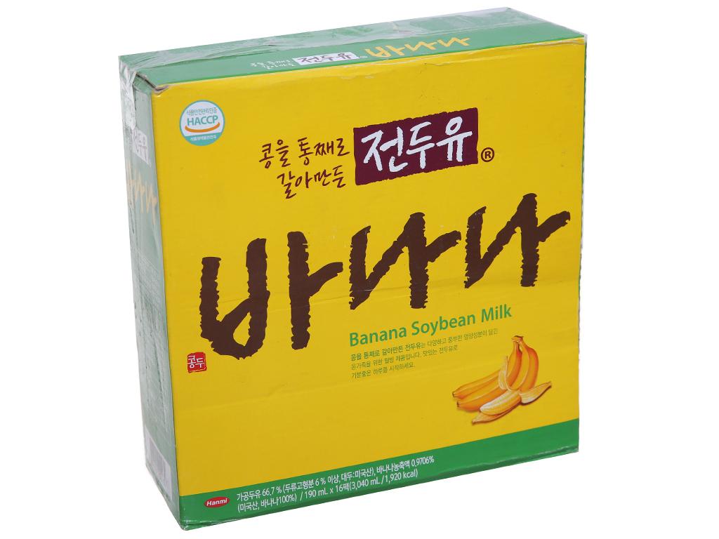 Thùng 16 hộp sữa đậu nành Hanmi vị chuối 190ml 1