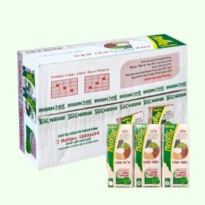 Thùng 30 hộp sữa 5 loại đậu có đường Nesvita 180ml