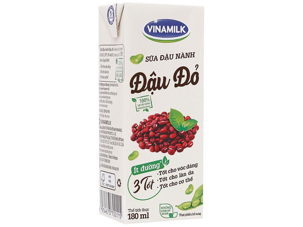 Lốc 4 hộp Sữa đậu nành đậu đỏ Vinamilk 180ml 2