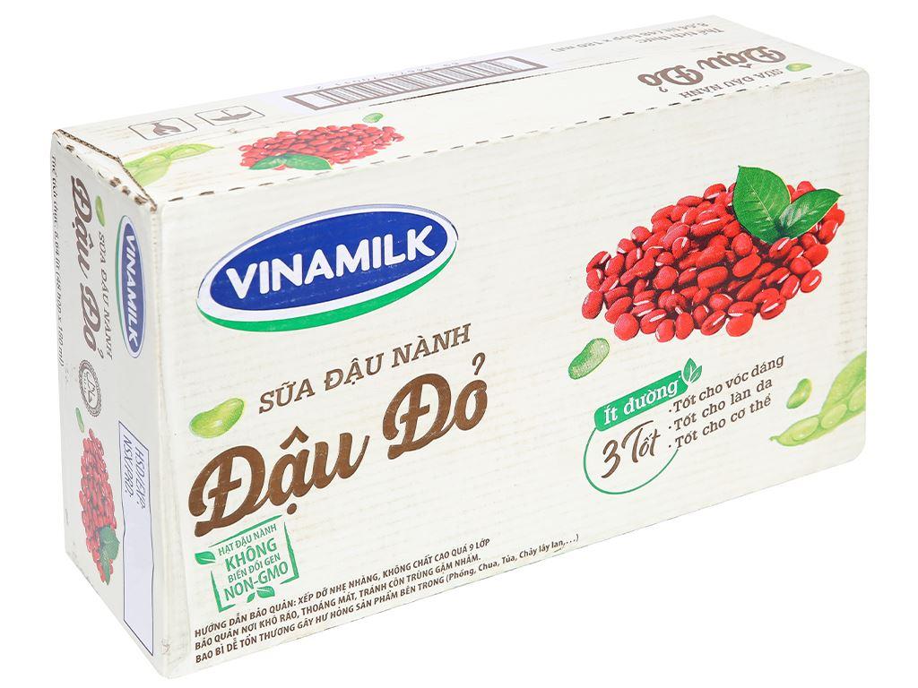 Thùng 48 hộp sữa đậu nành đậu đỏ Vinamilk 180ml 1