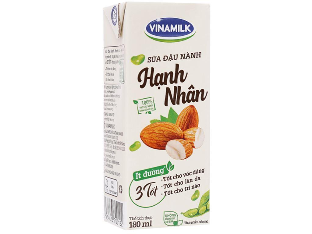 Lốc 4 hộp sữa đậu nành hạnh nhân Vinamilk 180ml 3