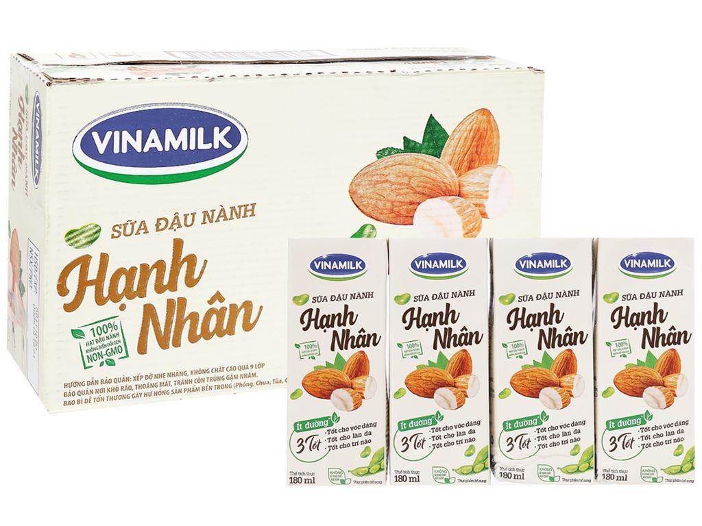Thùng 48 hộp sữa đậu nành hạnh nhân Vinamilk 180ml 1