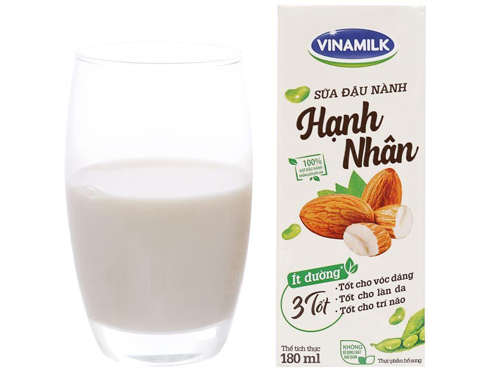 Thùng 48 hộp sữa đậu nành hạnh nhân Vinamilk 180ml 5