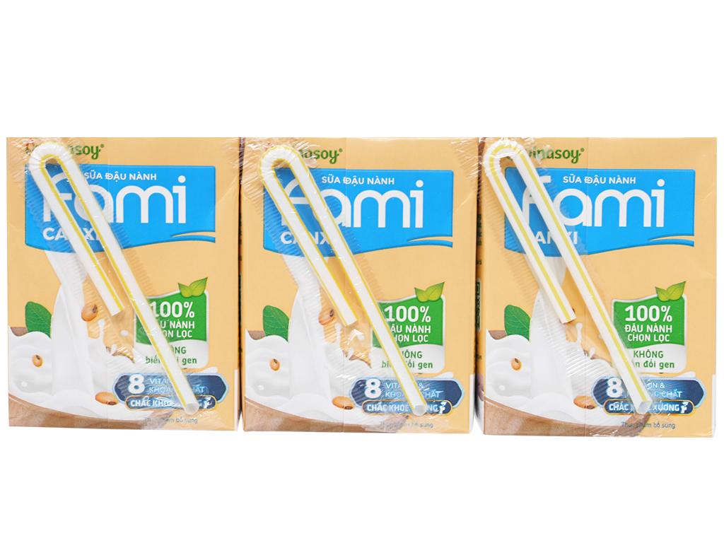 Lốc 6 hộp sữa đậu nành ít đường Fami Canxi 200ml 2