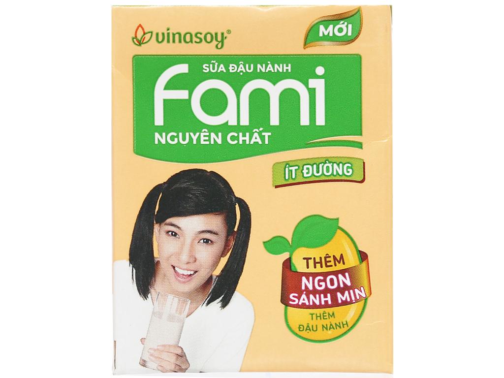 Lốc 6 hộp sữa đậu nành nguyên chất ít đường Fami 200ml 2