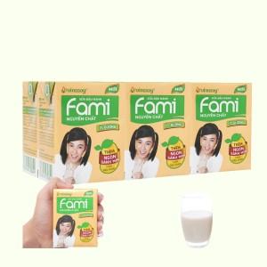 Lốc 6 hộp sữa đậu nành nguyên chất ít đường Fami 200ml