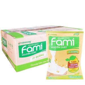 Thùng 40 bịch Sữa đậu nành Fami nguyên chất ít đường 200ml