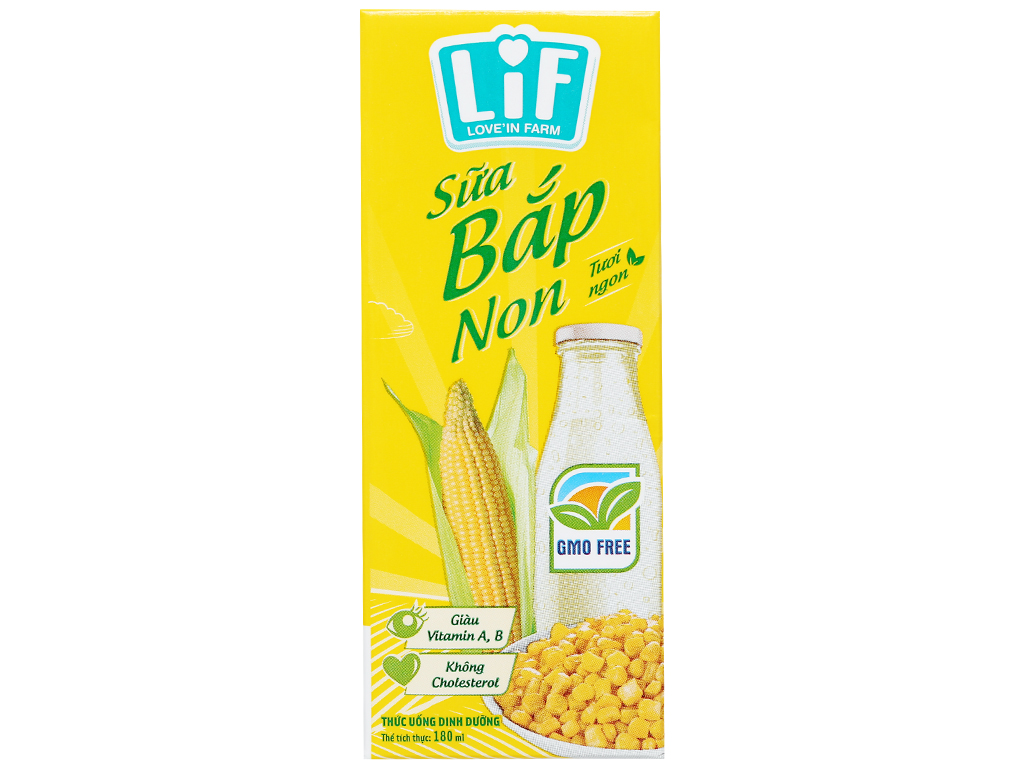 Thùng 24 hộp sữa bắp non LiF 180ml 2