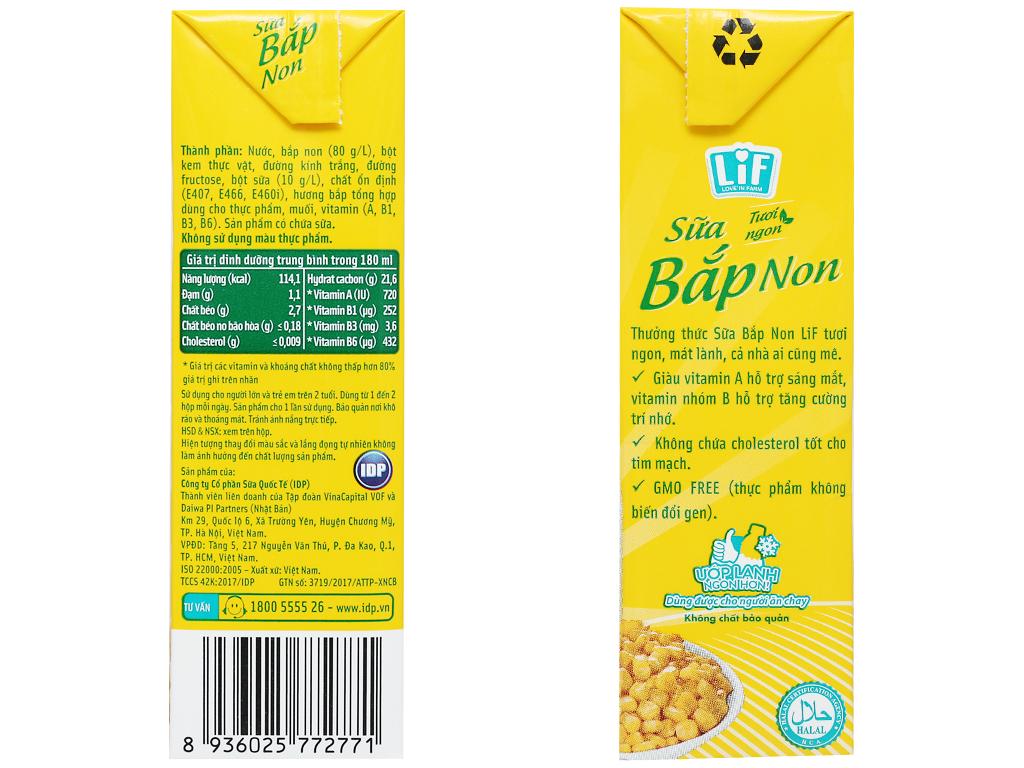 Thùng 24 hộp sữa bắp non LiF 180ml 4