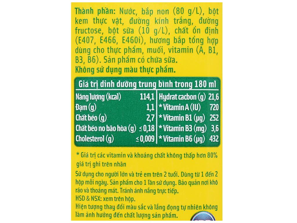 Thùng 24 hộp sữa bắp non LiF 180ml 5