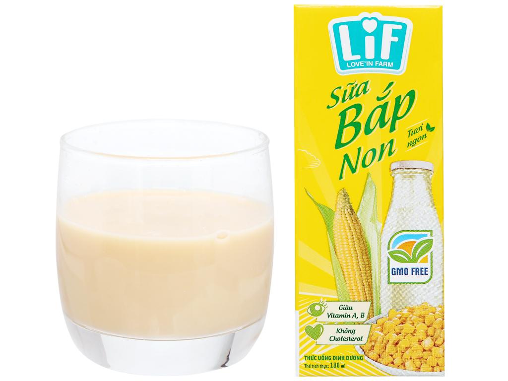 Thùng 24 hộp sữa bắp non LiF 180ml 7