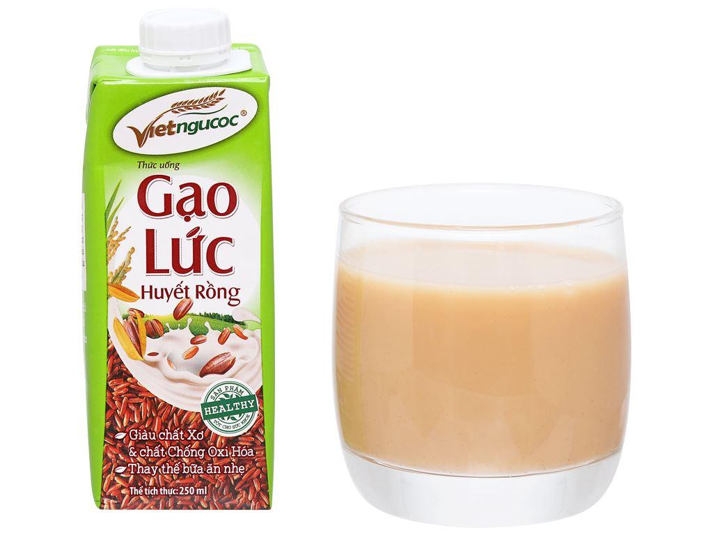 Lốc 3 hộp Thức uống gạo lức huyết rồng Việt Ngũ Cốc 250ml 11