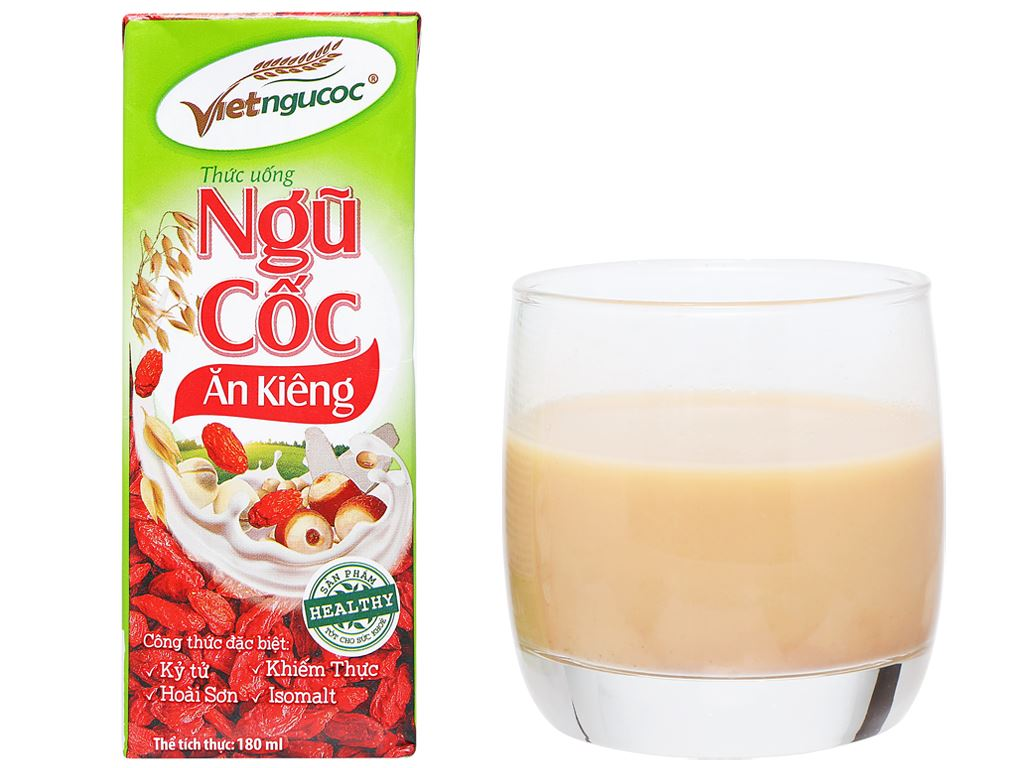 Lốc 4 hộp thức uống ngũ cốc ăn kiêng Việt Ngũ Cốc 180ml 10