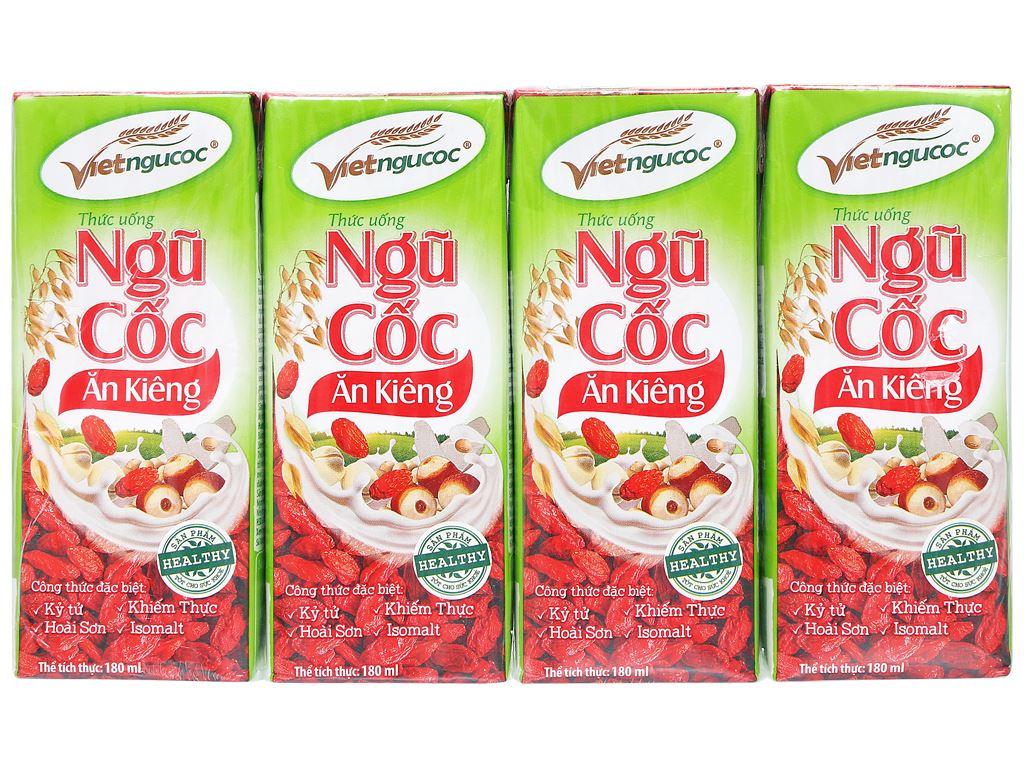 Thùng 40 hộp thức uống ngũ cốc ăn kiêng Việt Ngũ Cốc 180ml 5
