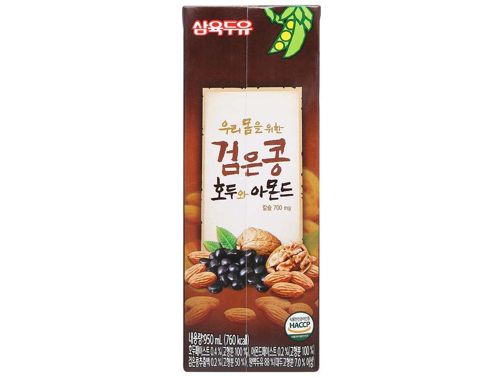 Thùng 12 hộp sữa đậu đen óc chó hạnh nhân Sahmyook 950ml 5
