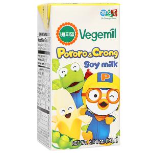Sữa đậu nành hương chuối Vegemil Pororo & Crong hộp 190ml