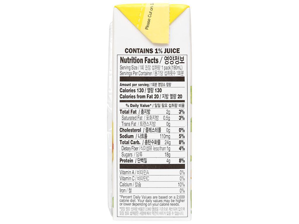 Sữa đậu nành hương chuối Vegemil Pororo & Crong hộp 190ml 5
