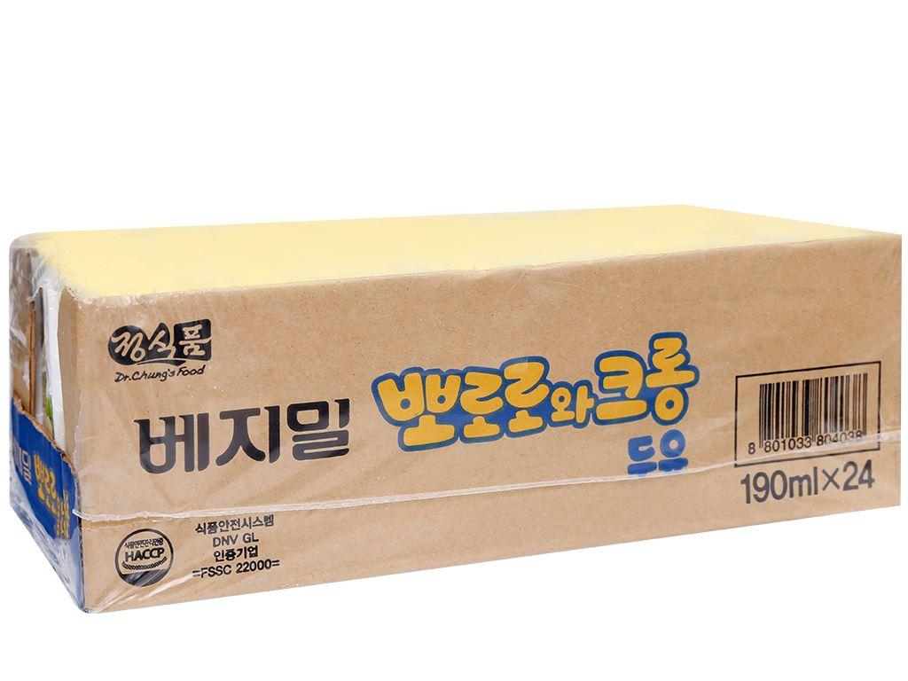 Thùng 24 hộp sữa đậu nành hương chuối Vegemil Pororo & Crong 190ml 1