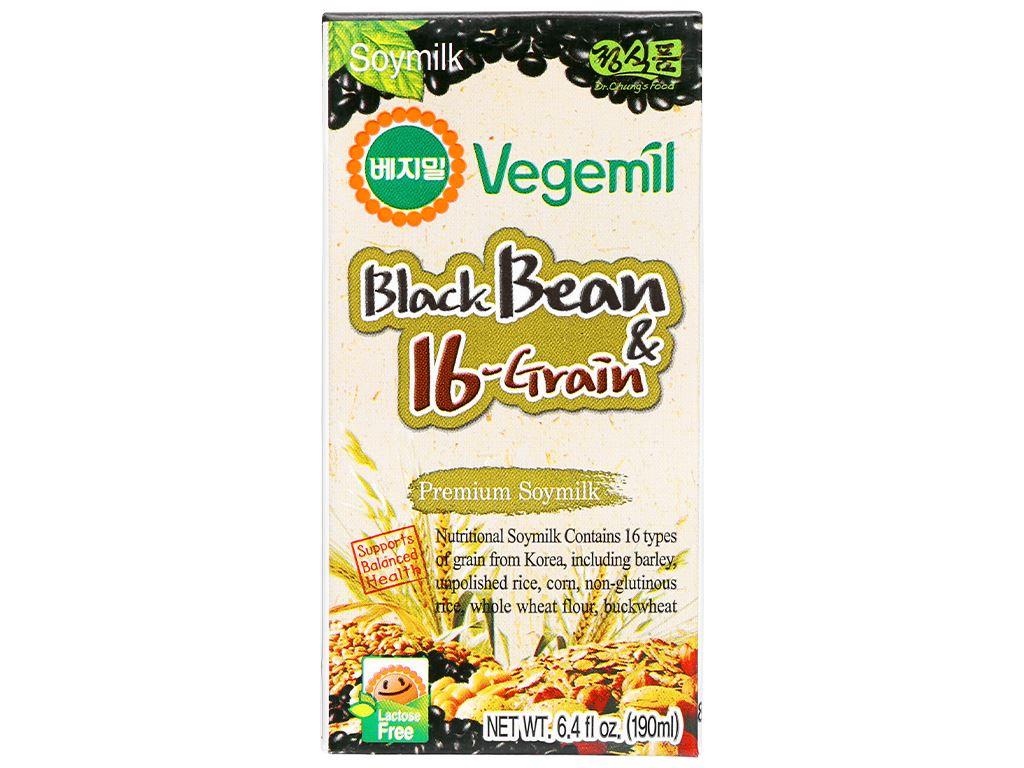 Sữa đậu đen và 16 vị ngũ cốc Vegemil hộp 190ml 1