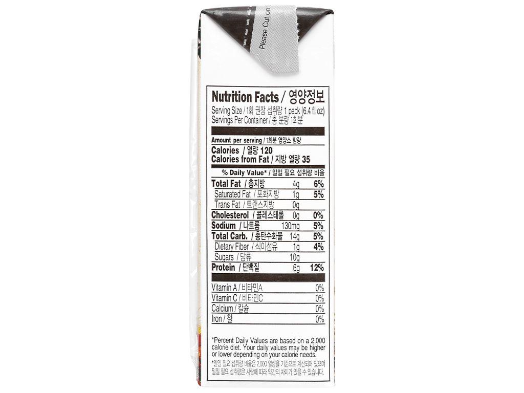 Sữa đậu đen và 16 vị ngũ cốc Vegemil hộp 190ml 4
