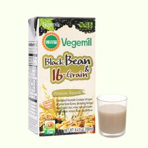 Sữa đậu đen và 16 vị ngũ cốc Vegemil hộp 190ml