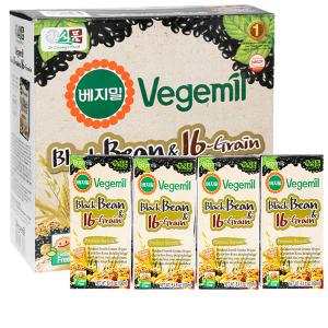 Thùng 16 hộp sữa đậu đen và 16 vị ngũ cốc Vegemil 190ml