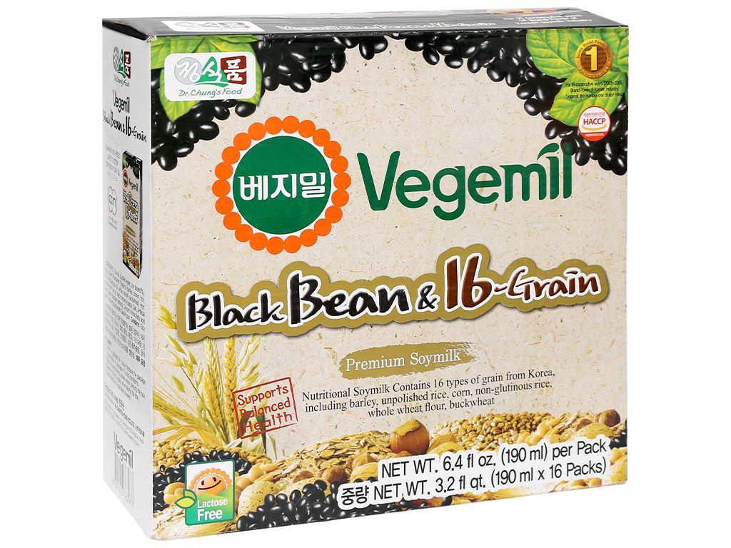Thùng 16 hộp sữa đậu đen và 16 vị ngũ cốc Vegemil 190ml 1