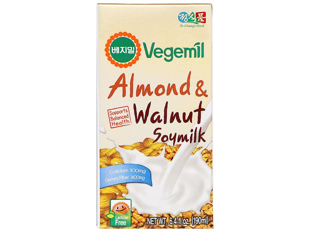 Thùng 16 hộp sữa đậu nành vị hạnh nhân và óc chó Vegemil 190ml 4