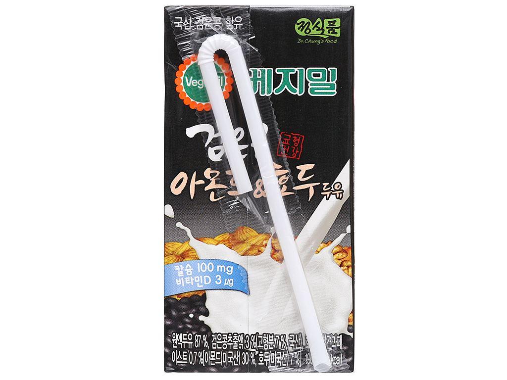 Sữa đậu đen, hạnh nhân và óc chó Vegemil hộp 190ml (chứa 100mg calcium) 2
