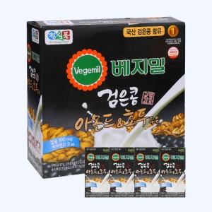 Thùng 16 hộp sữa đậu đen, hạnh nhân và óc chó Vegemil 190ml (chứa 100mg calcium)